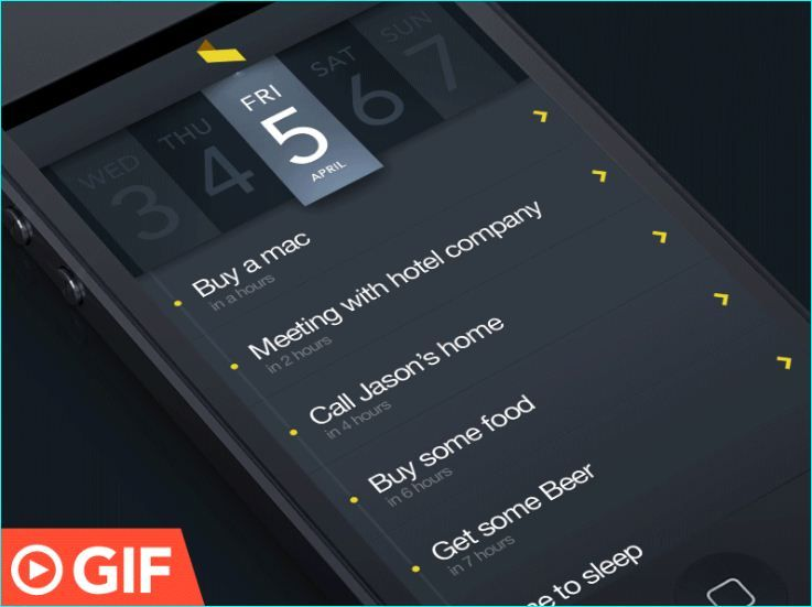 Pin on GIF Examples Of UI Mobile App Animations