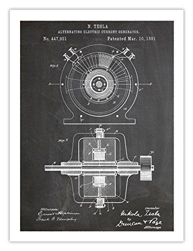 TESLA ALTERNATING ELECTRIC CURRENT GENERATOR POSTER INVENTION ...