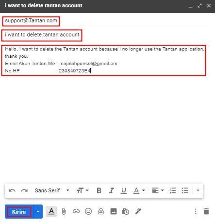 menghapus akn tantan melalui email,hapun akun tantan tanpa sign in atau tanpa login
