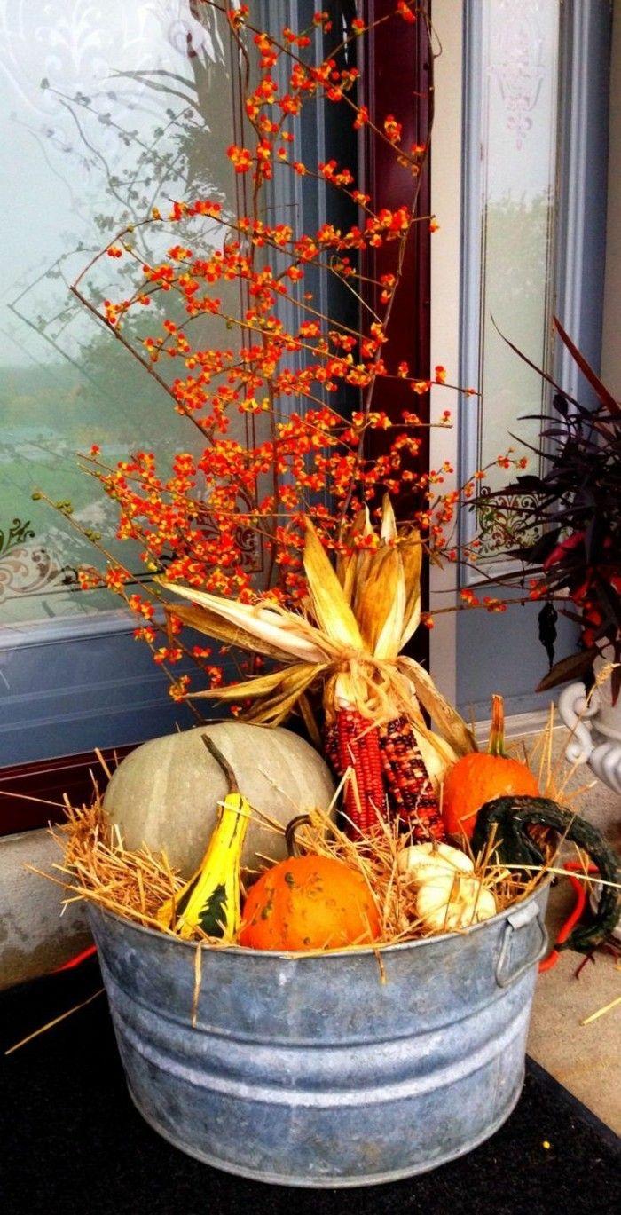 Basteln mit Naturmaterialien im Herbst - 33 Dekoideen zum Selbermachen #herbstdekoeingangsbereich