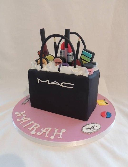 Mac Cake Pastel Cosmeticos Tortas Tortas De Maquillaje