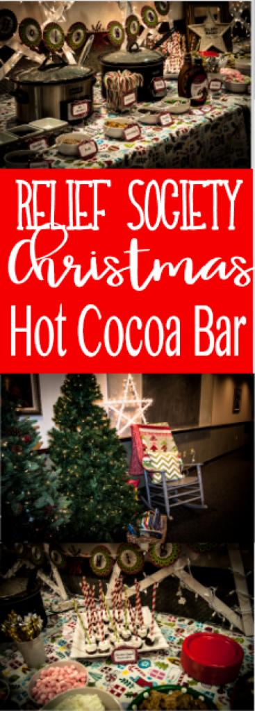 Hot Cocoa Bar! Relief Society Christmas Party Idea #churchitems