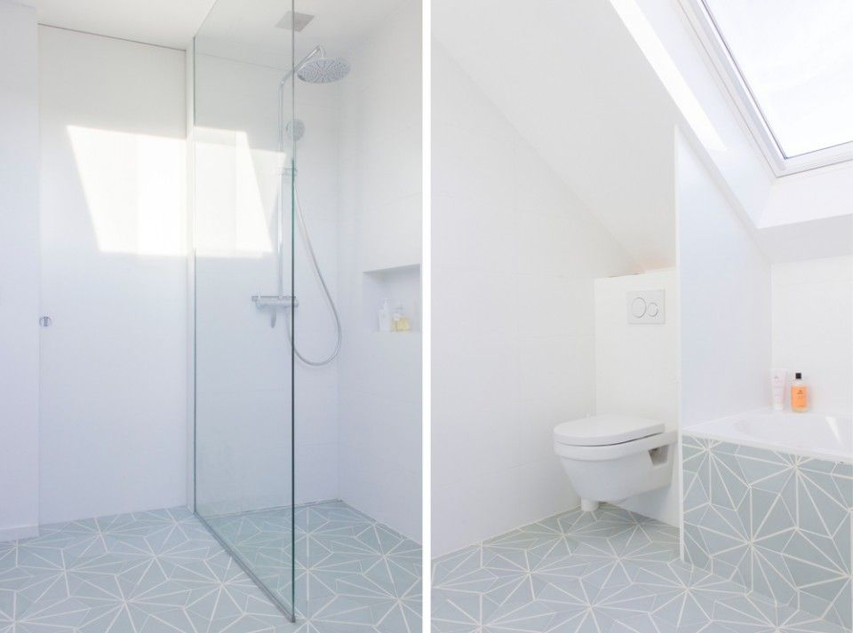 Salle de bain Auguste et Claire - Hexagonal Cement Tiles Renover - volume salle de bains