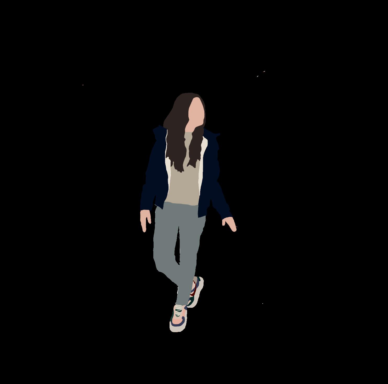 Cutout Women Walking People Cutout Silhouette People Render People