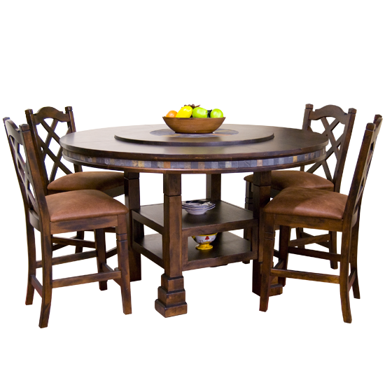 Table With Center Rotating Rise Kitchen Table Settings Round