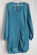 cocon.commerz PRIVATSACHEN Kleid aus STEPPSEIDE in türkisblau Größe 2