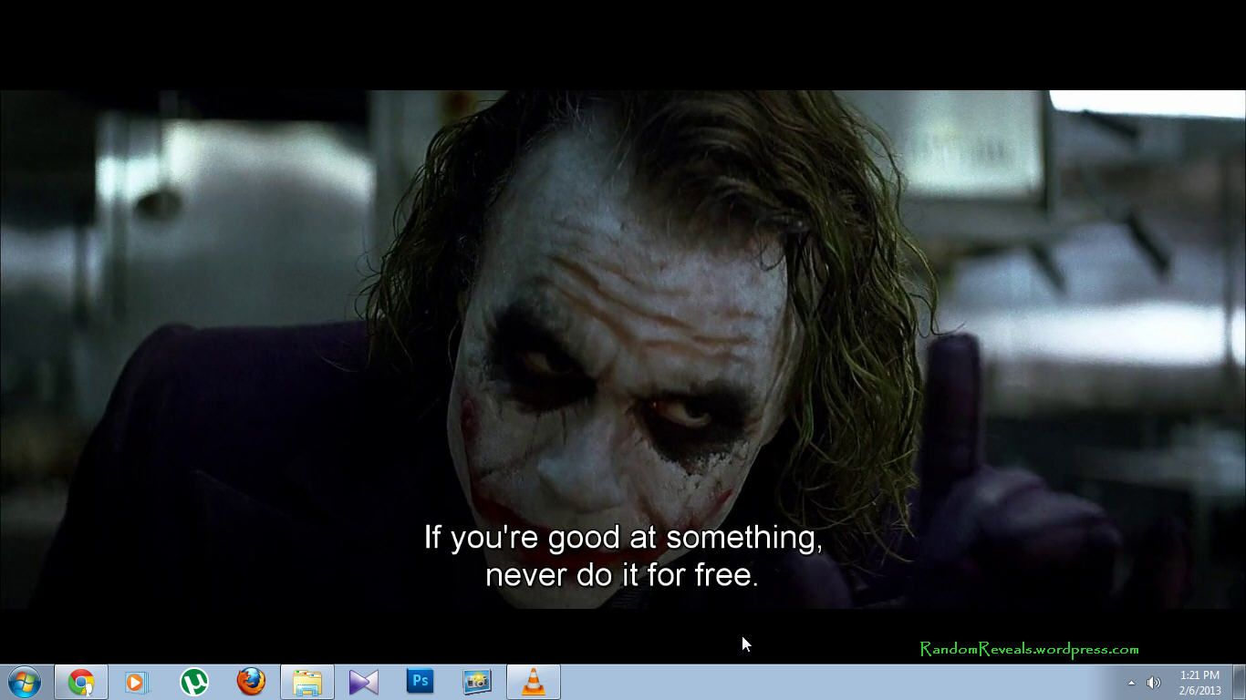 How To Set Video A Your Desktop Wallpaper Best Movie Line Dark Knight Heath Ledger Cite Quote From Harvard Style
