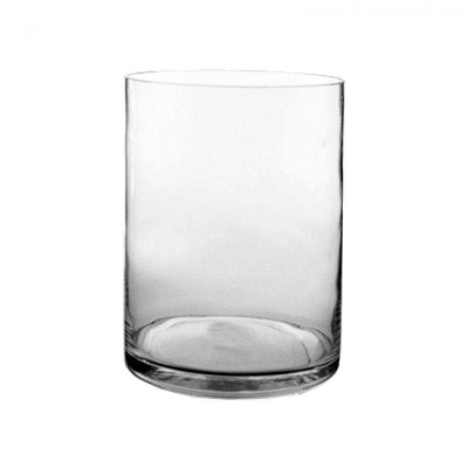 8 x 16 Clear Glass Cylinder Vase (BULK Case of 4 = $26.00 Per Vase ...