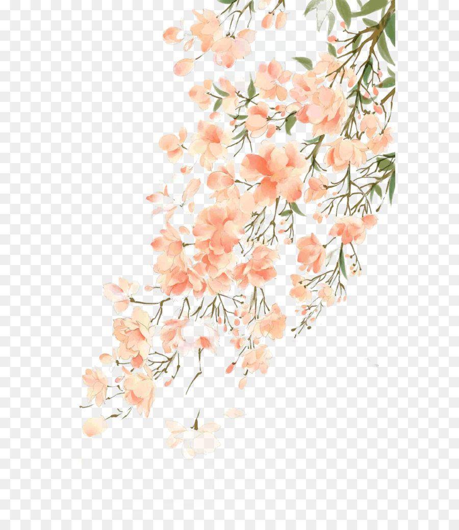 2020 的 Watercolor Flowers Vector Blueberry Flowers Png