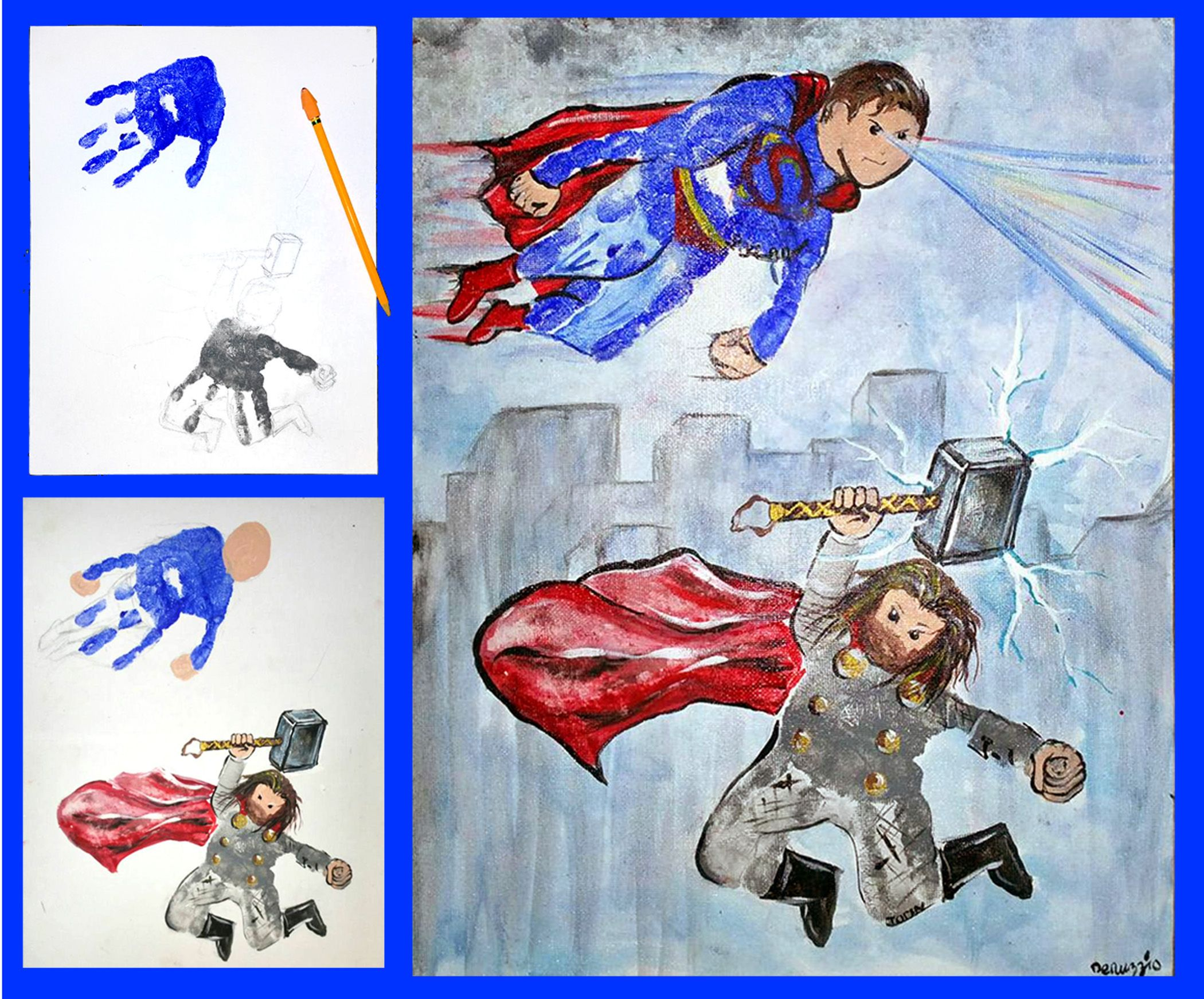 Handprint Superhero Superman