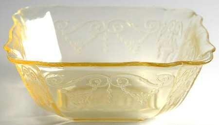 Indiana Glass Lorain Yellow Large Fruit Bowl Large Fruit Bowl