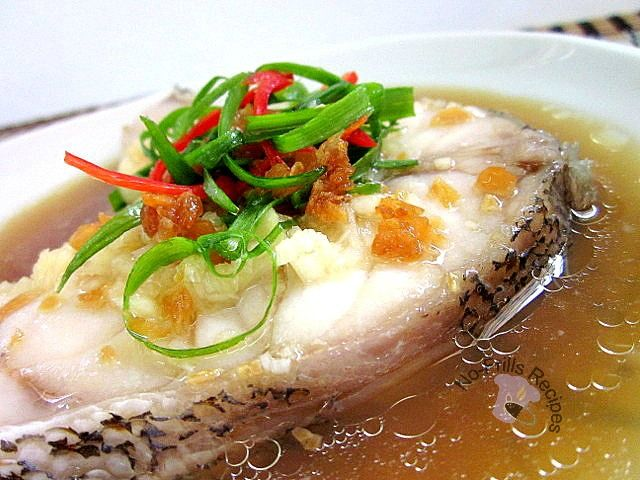 Recipe for steamed garoupa sea fish with essence of for Fresh fish recipes