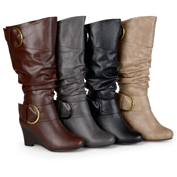 274bb89b2b07 Women s Journee Collection Womens Extra Wide Calf Buckle Boots ( 62) ❤  liked on Polyvore featuring shoes
