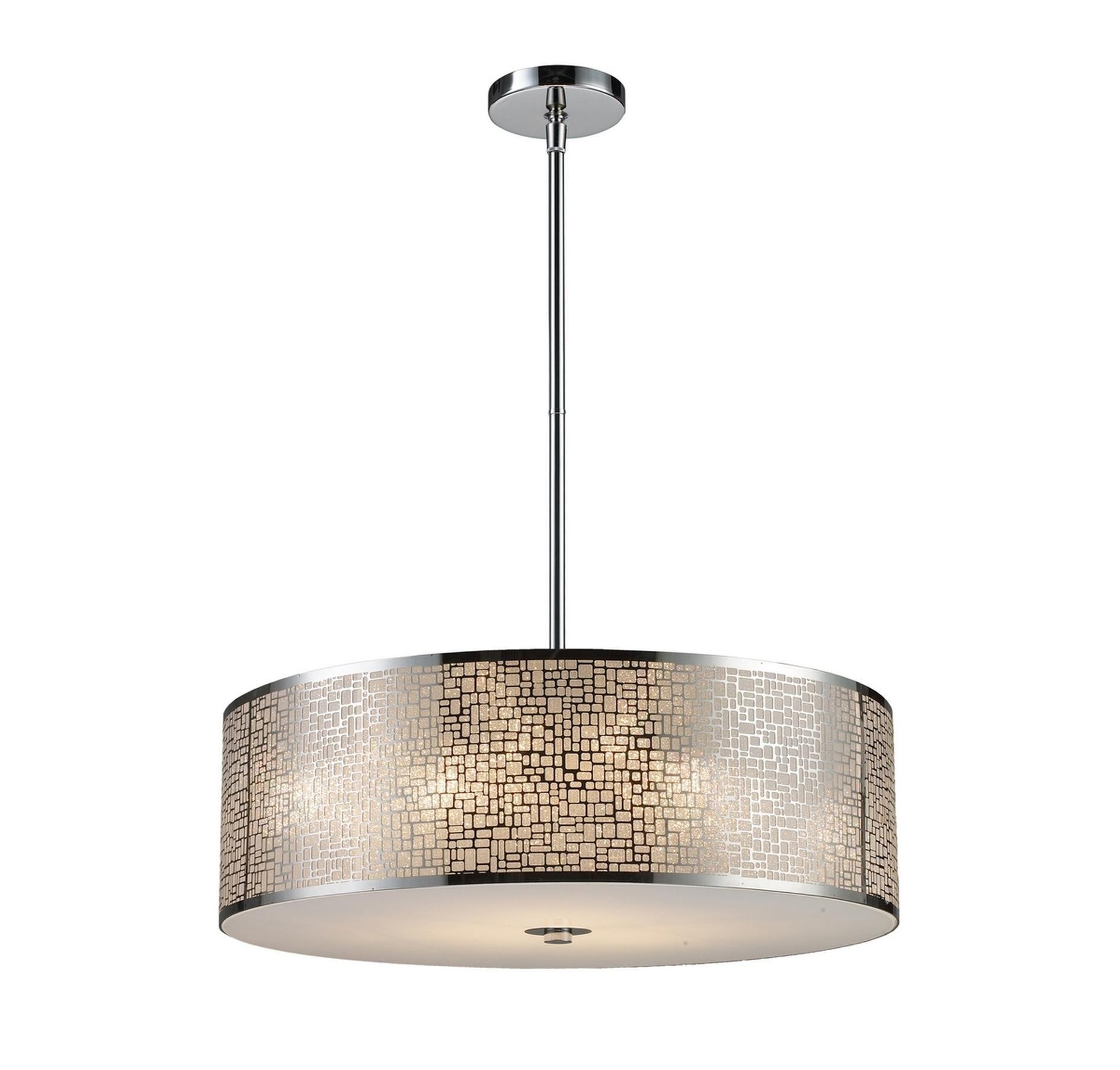 Elk Lighting 31043 5 Medina 5 Lt Pendant In Stainless Steel In Ceiling Lights Pendants Ceili Elk Lighting Stainless Steel Pendant Light Pendant Ceiling Lamp