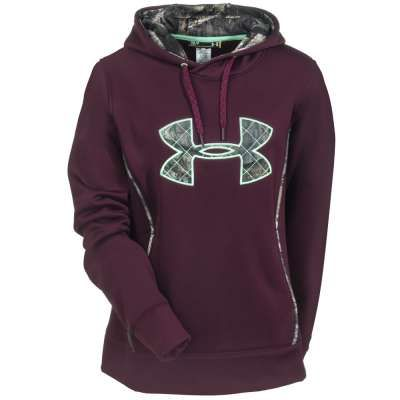 76a19dc72a61 Under Armour Sweatshirts  Women s Cinnabar Burgundy 1247106 600 Hooded  Sweatshirt