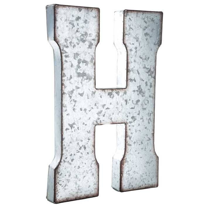 Galvanized Metal Letter Wall Decor A Metal Letter Wall Decor