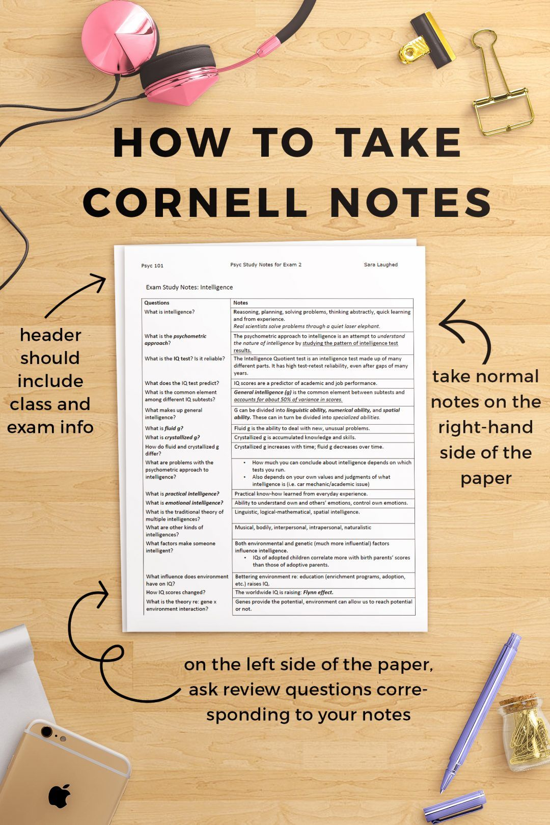 How To Take Cornell Notes Plus A Free Worksheet Pack