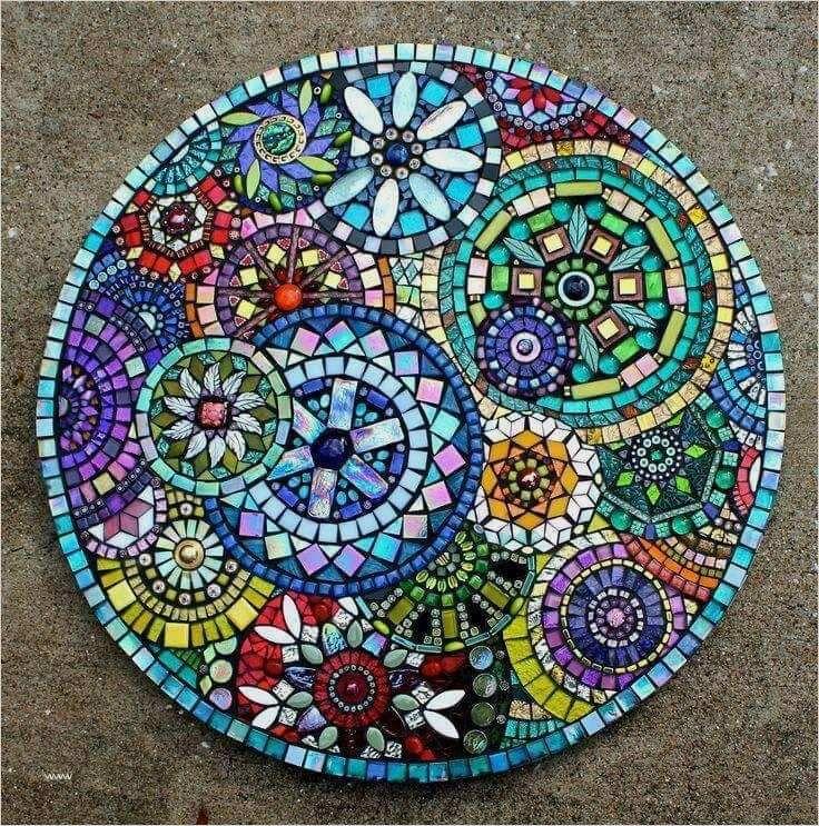 Brillante Inspiration Mosaik Vorlagen Tisch