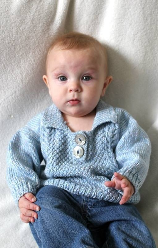 Handknit Baby's Cabled Sweater by NanasHandstitched on Etsy