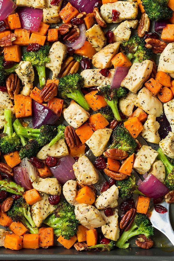Chicken broccoli and sweet potato sheet pan dinner cooking classy chicken broccoli and sweet potato sheet pan dinner cooking classy forumfinder Images