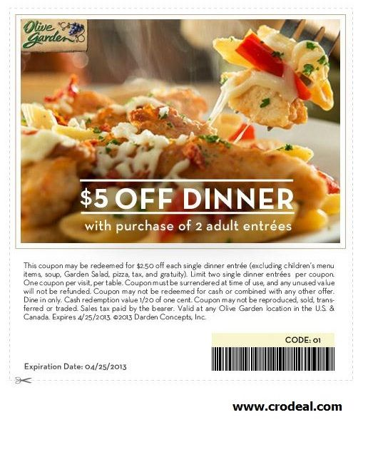 image regarding Olive Garden Printable Coupons called olive backyard garden coupon Meals within 2019 Olive back garden discount coupons