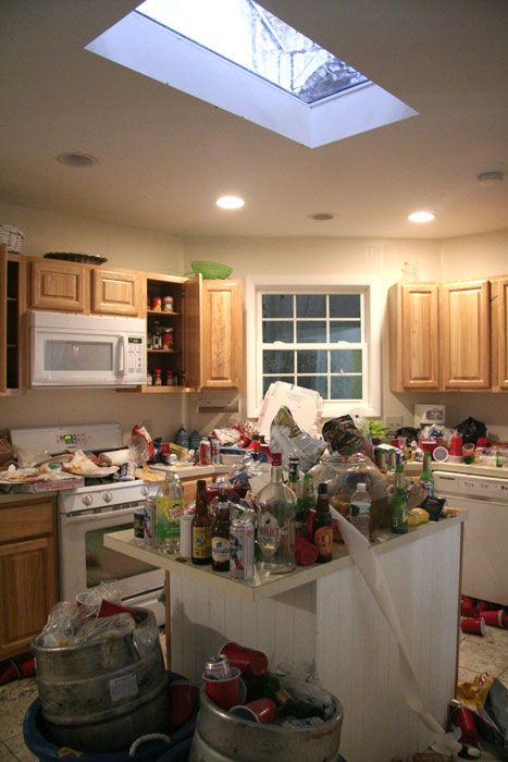 trashed kitchen 2 (house party) miss julie AKA RAGE