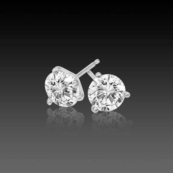 Diamond Stud Earrings 1 8 Carat Si3 I1 H I Very Good Cut 3 G Martini In 14k White Gold From Diamondstudsonly