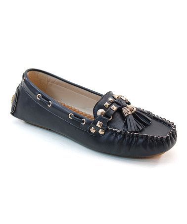 458e0f2a0 This Black Tassel Italina Loafer is perfect! #zulilyfinds | Boat ...
