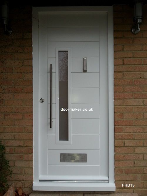 contemporary white front doors