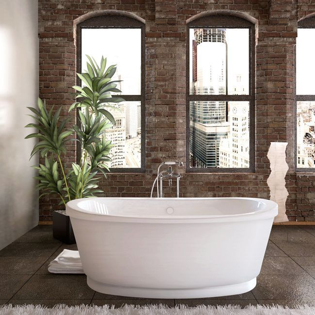 Atlantis Whirlpools Allure 36 X 66 Freestanding Soaker Bathtub In White  (36x66, White, Freestanding Tub) | Bathtubs, Bath And Freestanding Tub