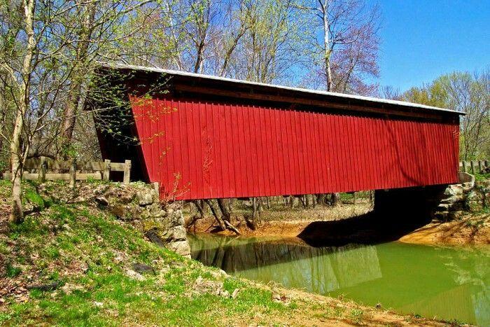 Buckeye Furnace covered bridge (Jackson County), Ohio.    Don O'Brien/Flickr