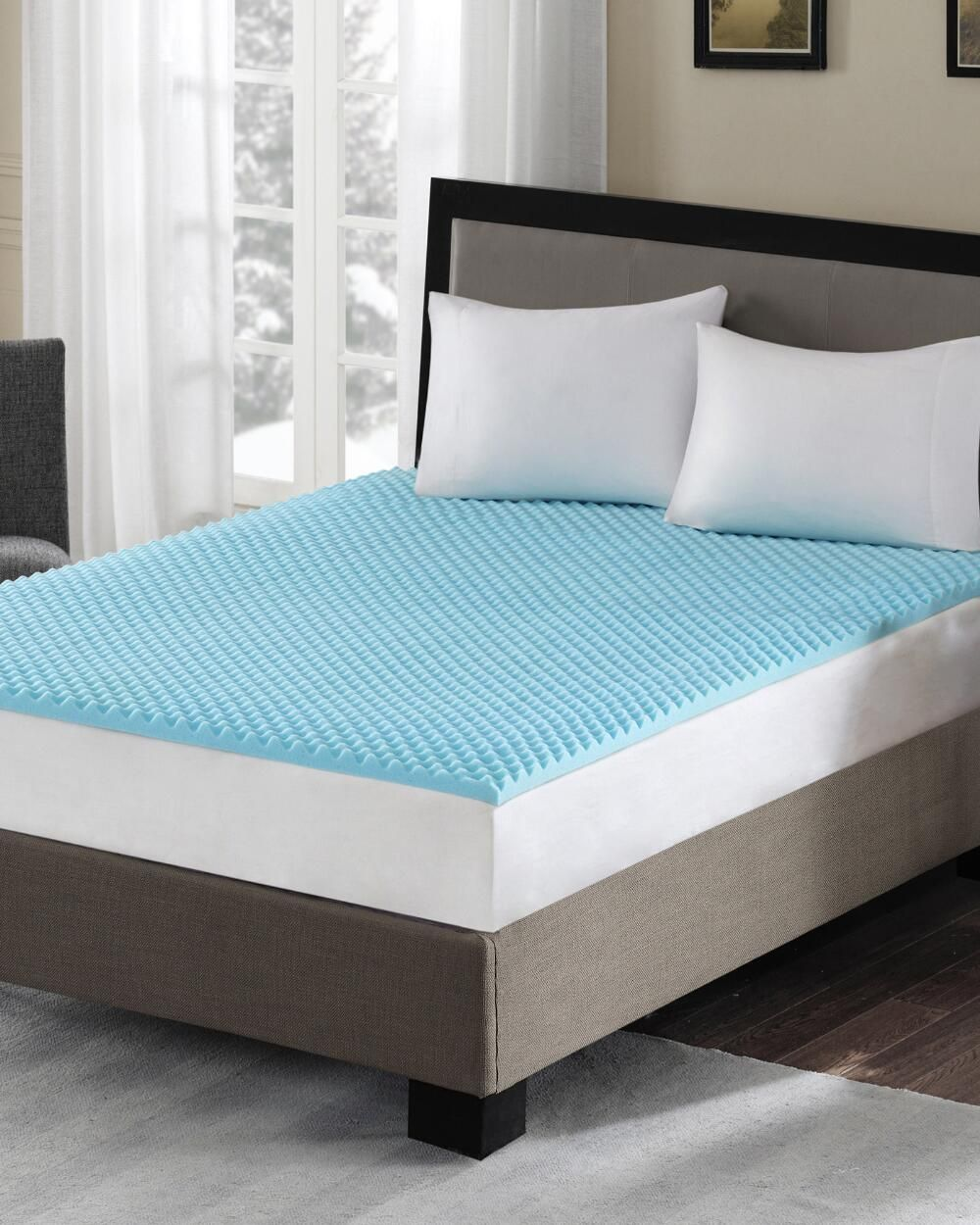 Sleep Philosophy 1 5 Gel Memory Foam Reversible Hypoallergenic