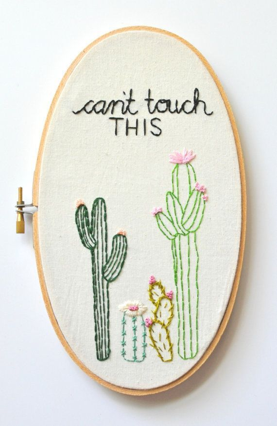Cactus Embroidery. Embroidery Hoop by KimArt. Cacti Embroidery ...