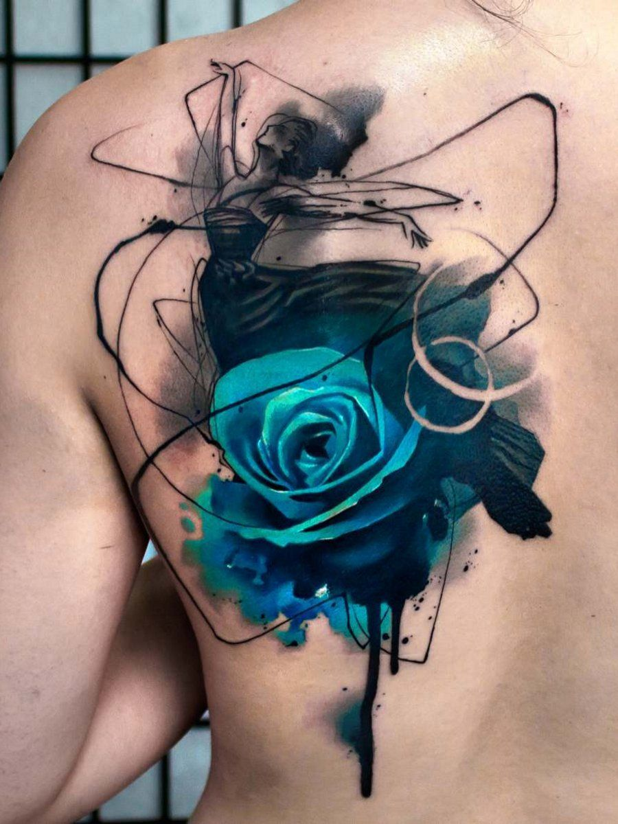 Ramon On Blue Rose Tattoos Watercolor Rose Tattoos Rose Tattoo