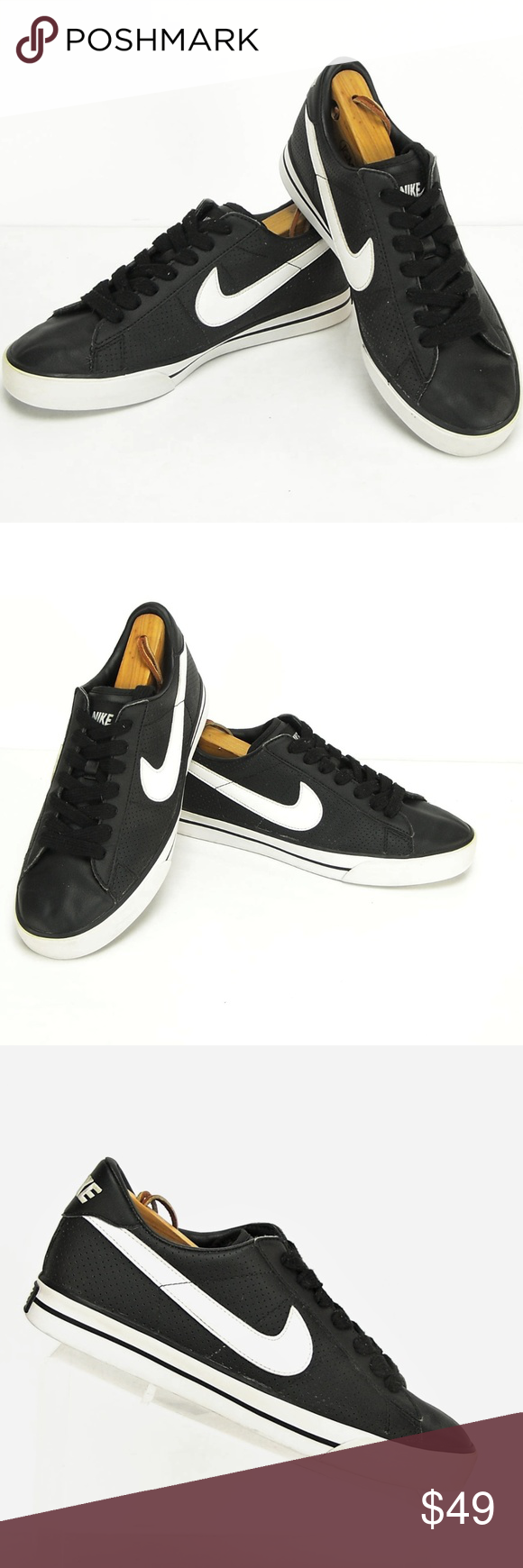Nike Sweet Classic Low Leather Black White Sneaker Nike Sweet Classic Low  Leather Black White 318333-011 Men s Size 9 Mint Condition. 28e675ce9