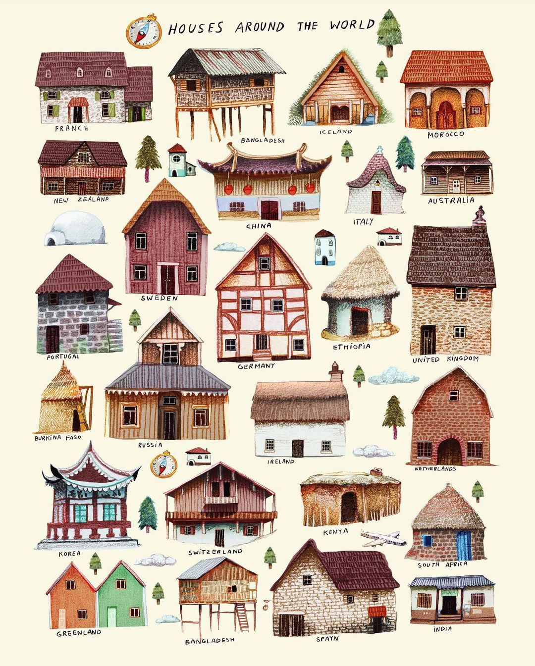 Francisco Fonseca On Instagram Houses Around The World Im In A Process Of Making A World Map Based Just Of Houses Fonseca Francisco Around The Worlds