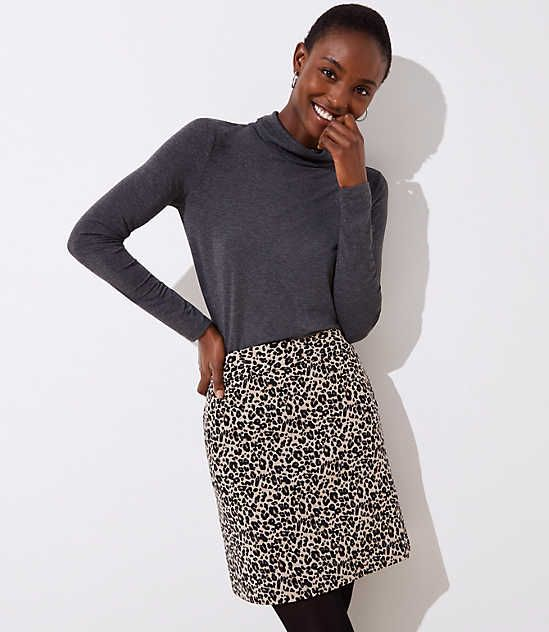 9ff09ef56 Shop LOFT for stylish women's clothing. You'll love our irresistible Petite  Leopard Print Shift Skirt - shop LOFT.com today!