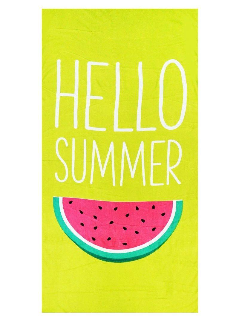 hello summer watermelon beach towel - Large Beach Towels