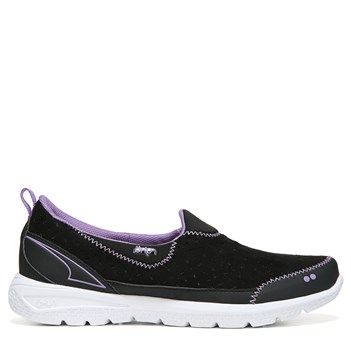 39ffc2bc567 Ryka Women s Henley Medium Wide Slip On Shoes (Black Lavender) Ryka Shoes