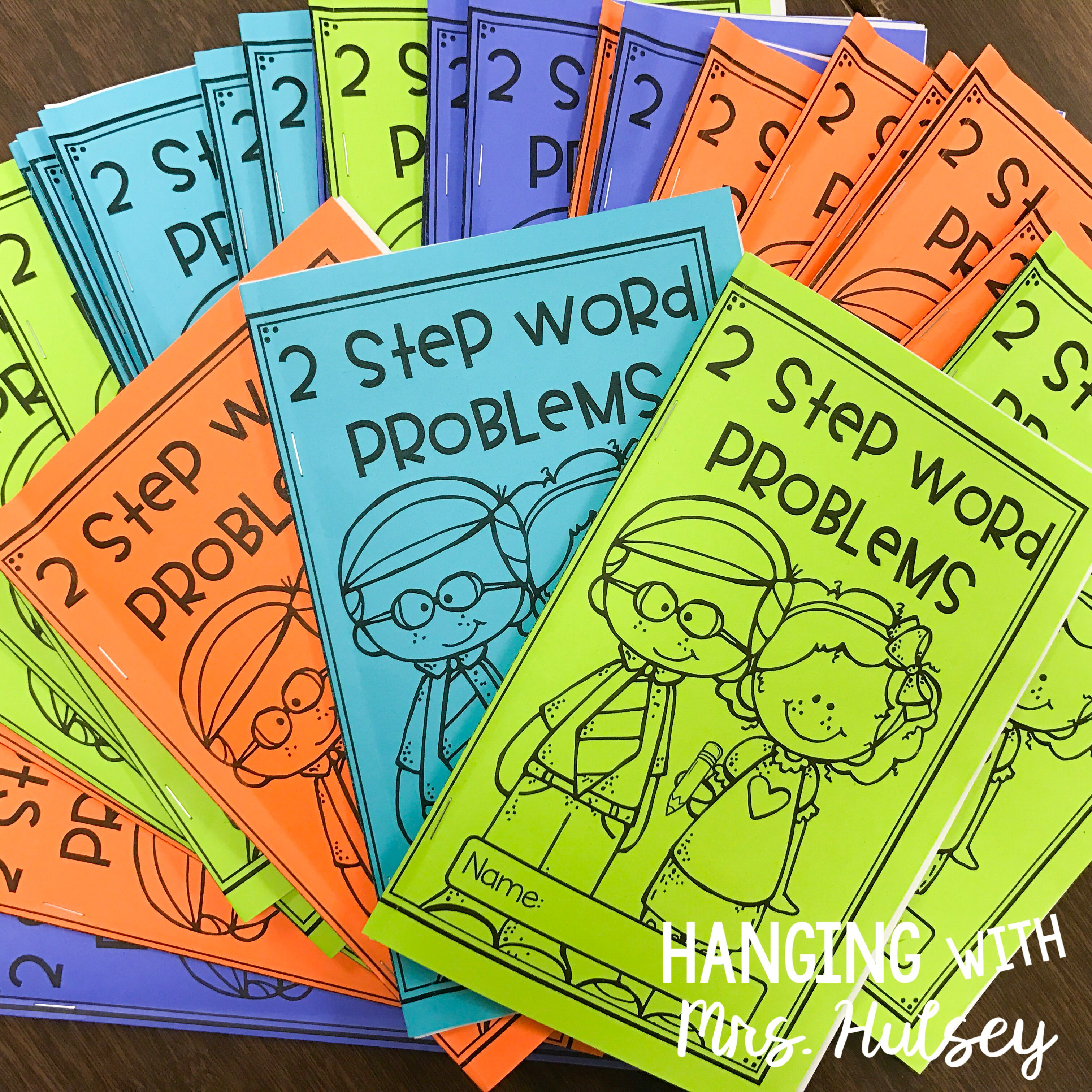2 Step Word Problems Mini Book Amp Task Cards 3 Oa D 8