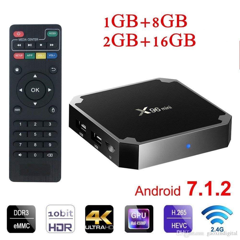 X96 Mini Android 7.1 2GB+16GB WIFI Smart TV BOX S905W Quad-Core 4K Media Players