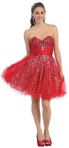 Red Sequin Short Dresses Juniors