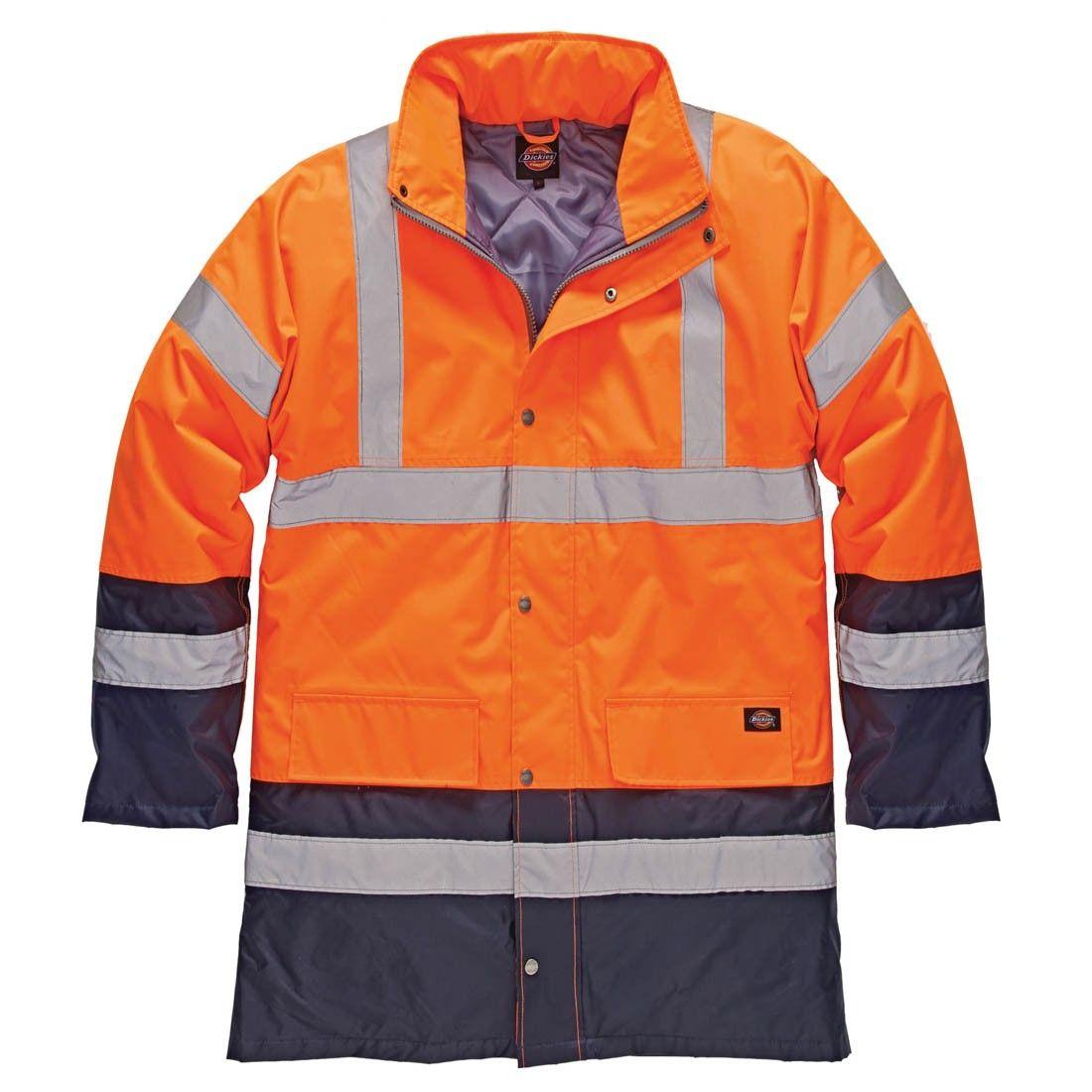 Jacket Navy Waterproof Hi Vis Strip