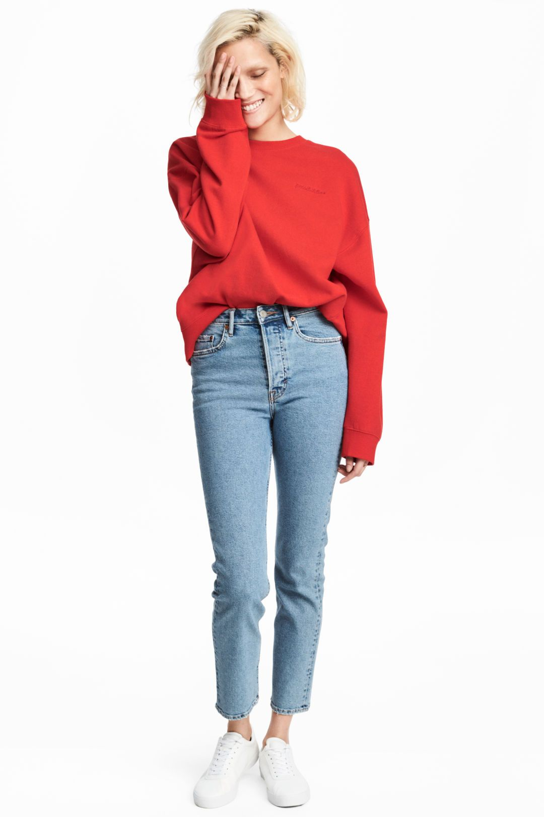 fa36cf1ed9 Vintage Slim Ankle Jeans - Light denim blue -