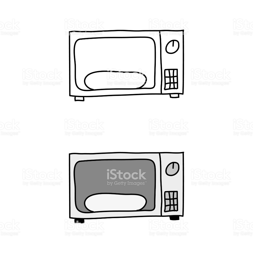 Cartoon Drawing Of A Microwave Oven Microwave Oven Easy Drawings Microwave