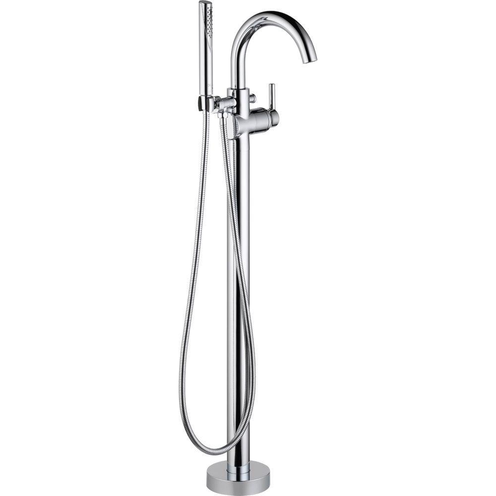 Delta Trinsic 1 Handle Floor Mount Roman Tub Faucet Trim Kit With