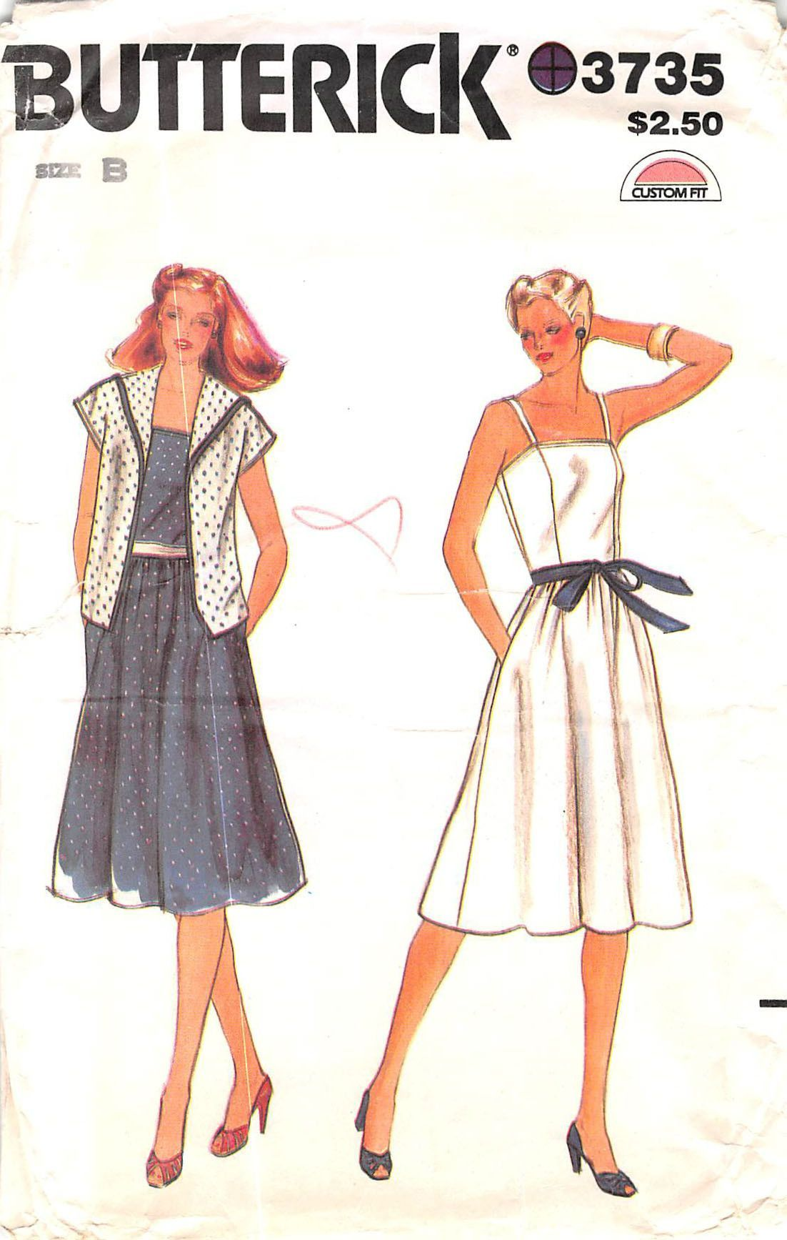 BUTTERICK 3735 - FROM 70s - UNCUT - MISSES JACKET & DRESS   Sewing ...
