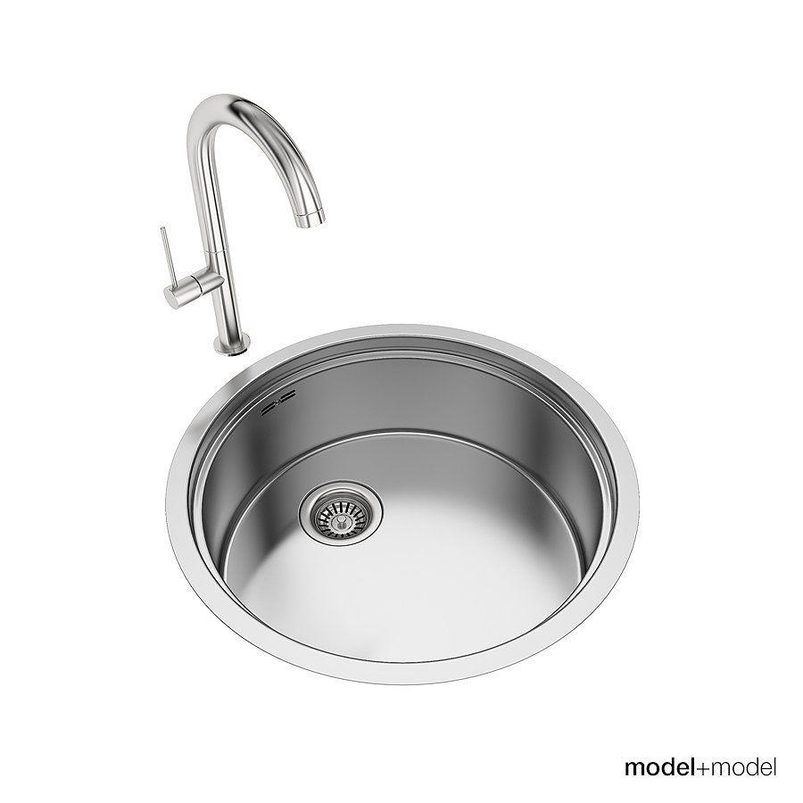 Round Sinks Grid Model Accurate Amount Round Sink Round Kitchen Sink Sink
