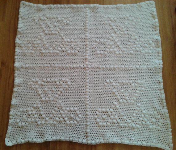 Baby Blanket teddy bear - free filet crochet patterns download | 488x570