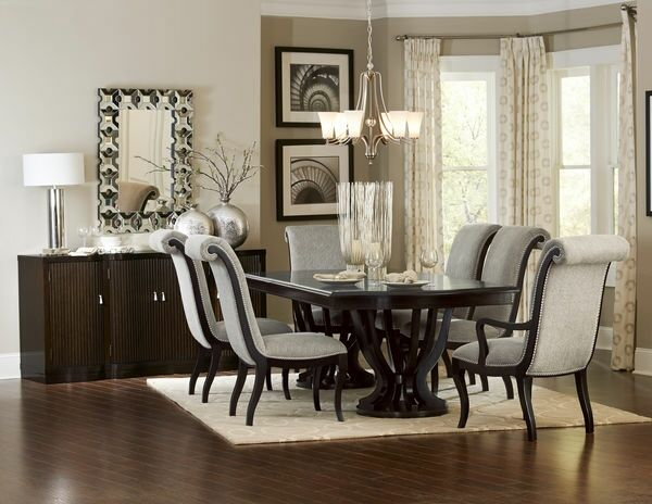 7 Pc Savion Collection Espresso Finish Wood Double Pedestal Dining Alluring Espresso Dining Room Sets Design Inspiration